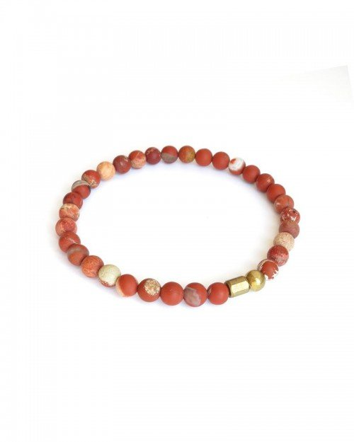 MEN – 6mm Red Jasper Bracelet