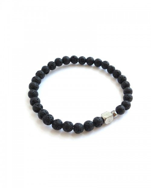 MEN – 6mm Lava Stone Bracelet