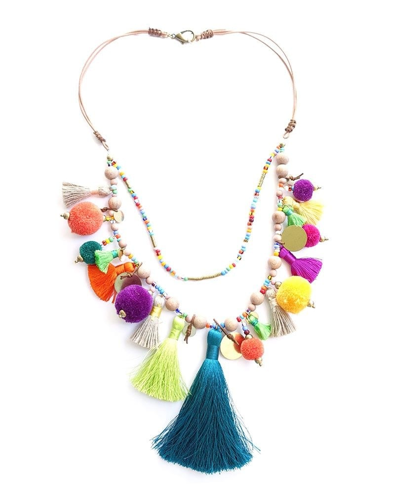 Pom Pom Parade Tassel Necklace 1 1