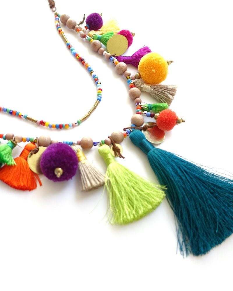 Pom Pom Parade Tassel Necklace 2 1