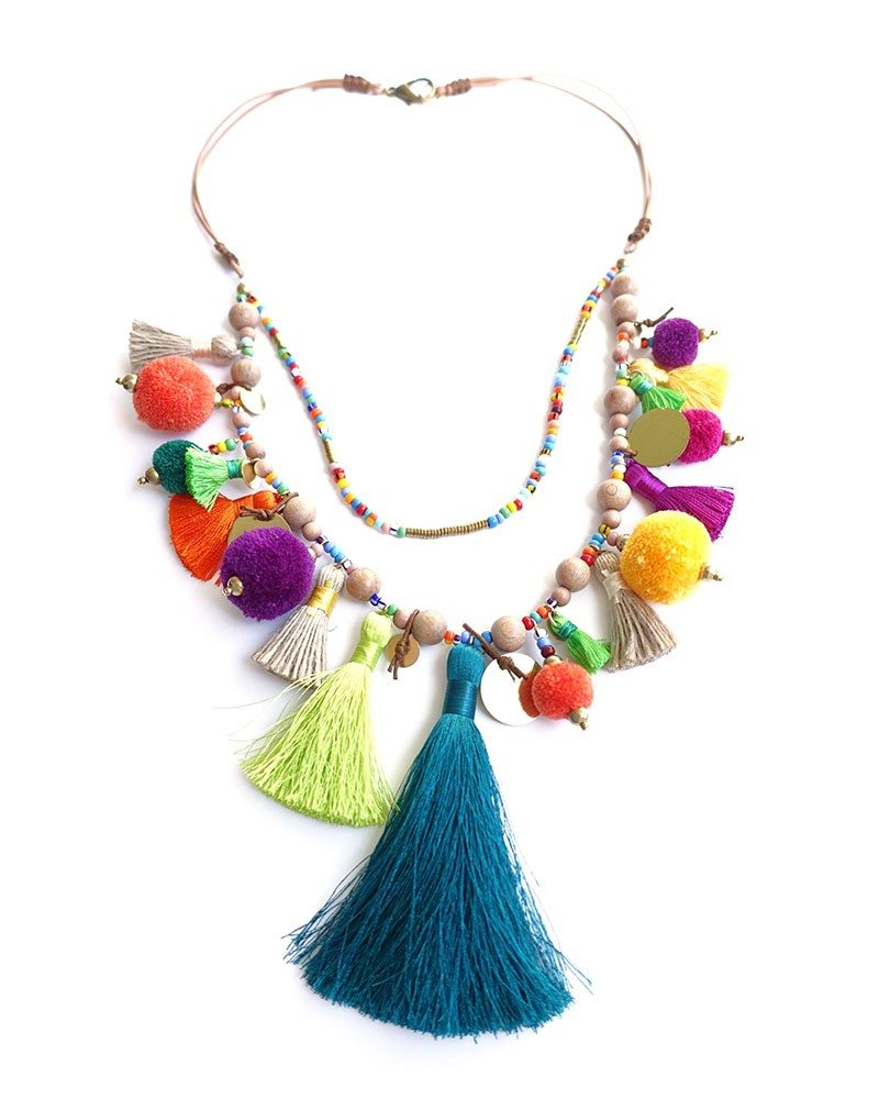 Pom Pom Parade Tassel Necklace 3