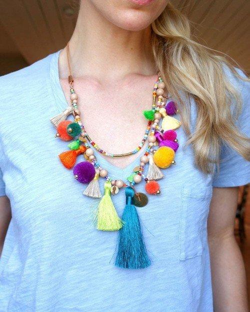Pom Pom Parade Tassel Necklace
