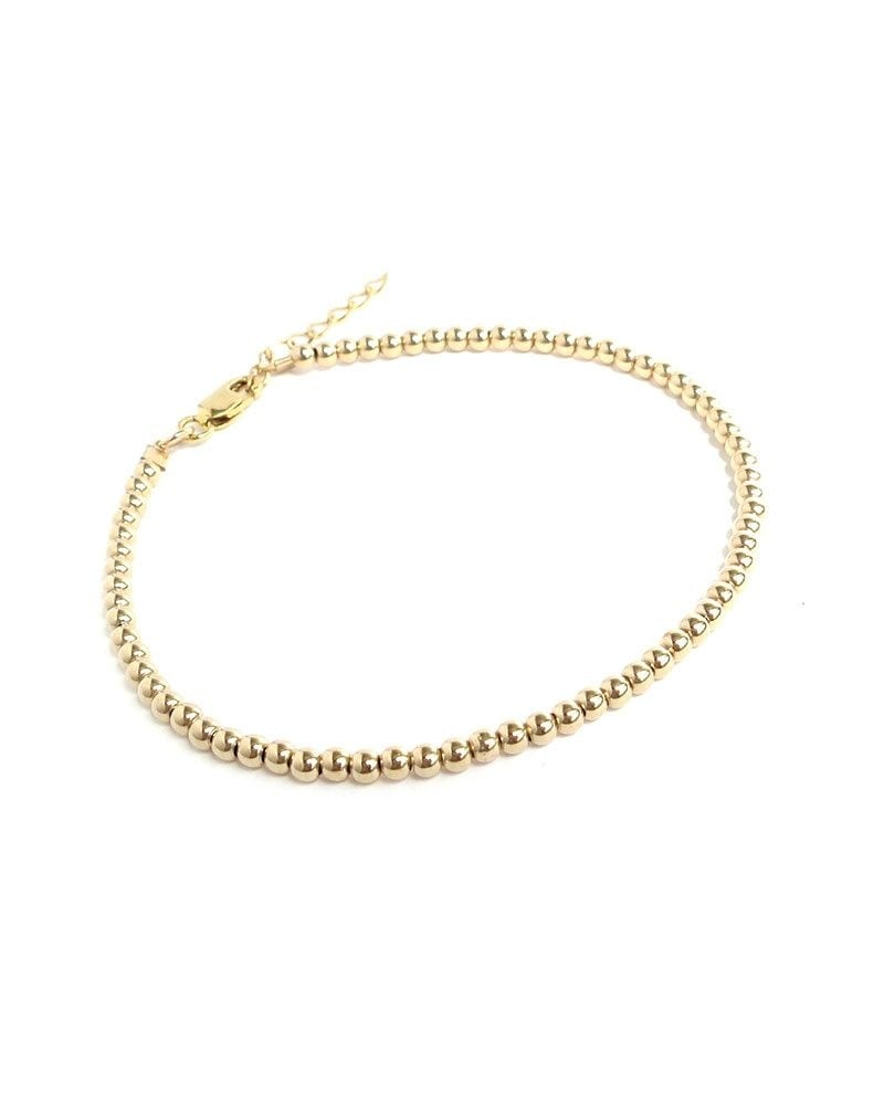 B Mini bead bracelet gold 1 1