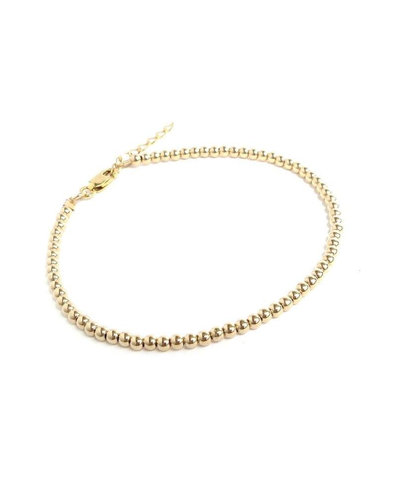 B Mini bead bracelet gold 1 1