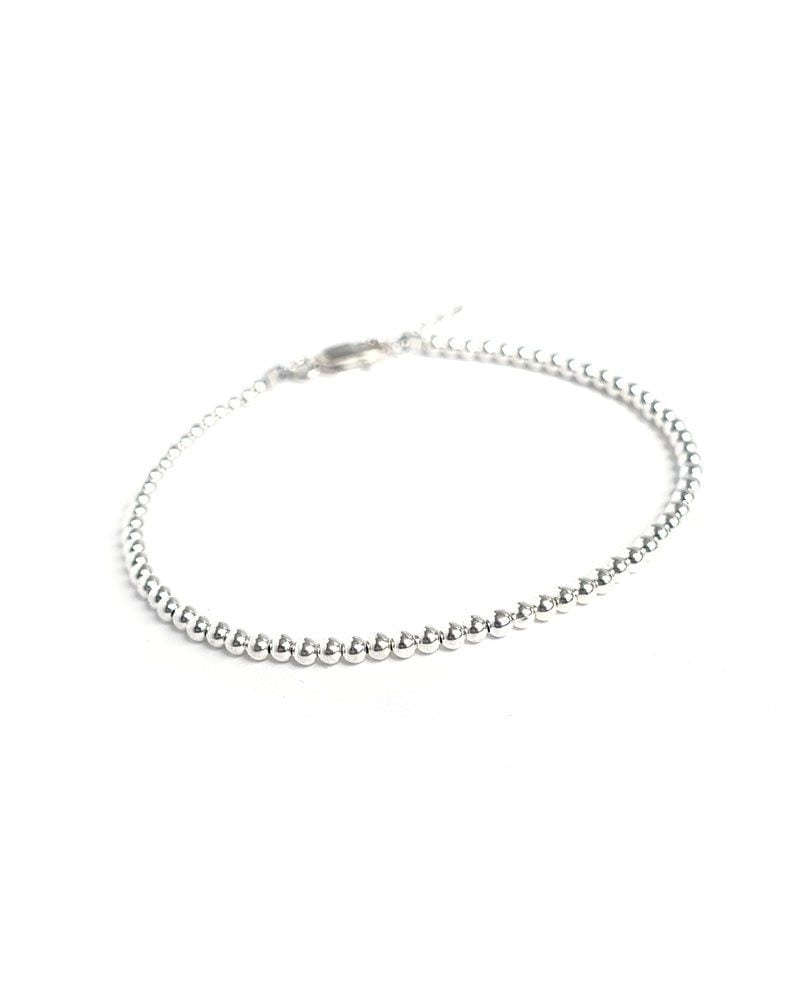 B Mini bead bracelet silver 1 1