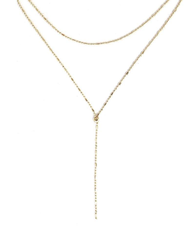 N Layer Up Vela Necklace Gold 3 1