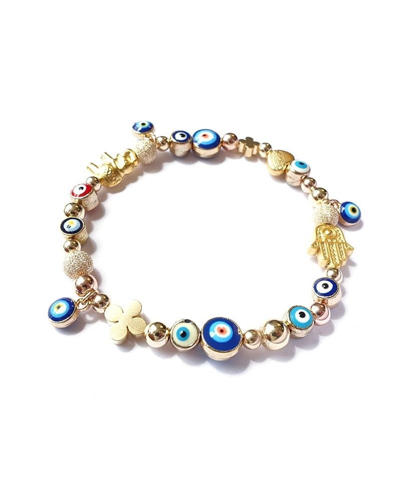 B Arm Party Gilded Good Luck Bracelet Evil Eye Heart Elephant Hamsa 1