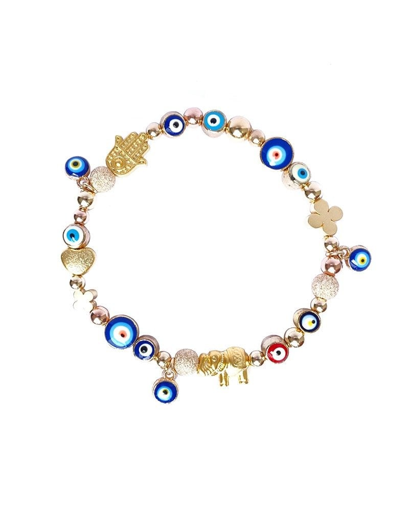 B Arm Party Gilded Good Luck Bracelet Evil Eye Heart Elephant Hamsa 2