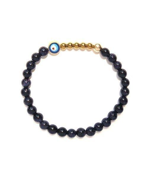 Ojo Bracelet Blue Goldstone – Gold