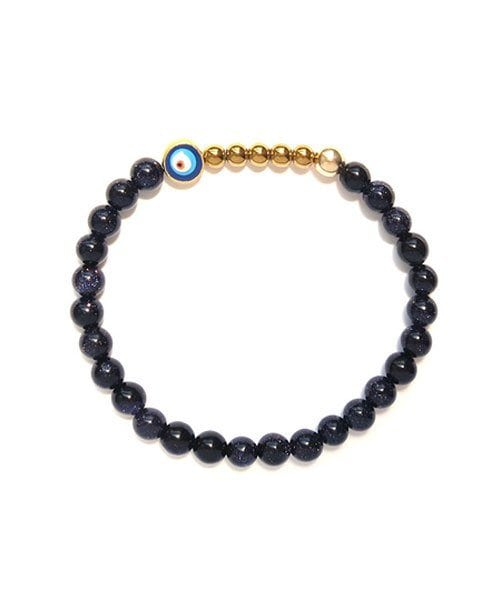 B Ojo Bracelet Blue Goldstone 6mm 1 1