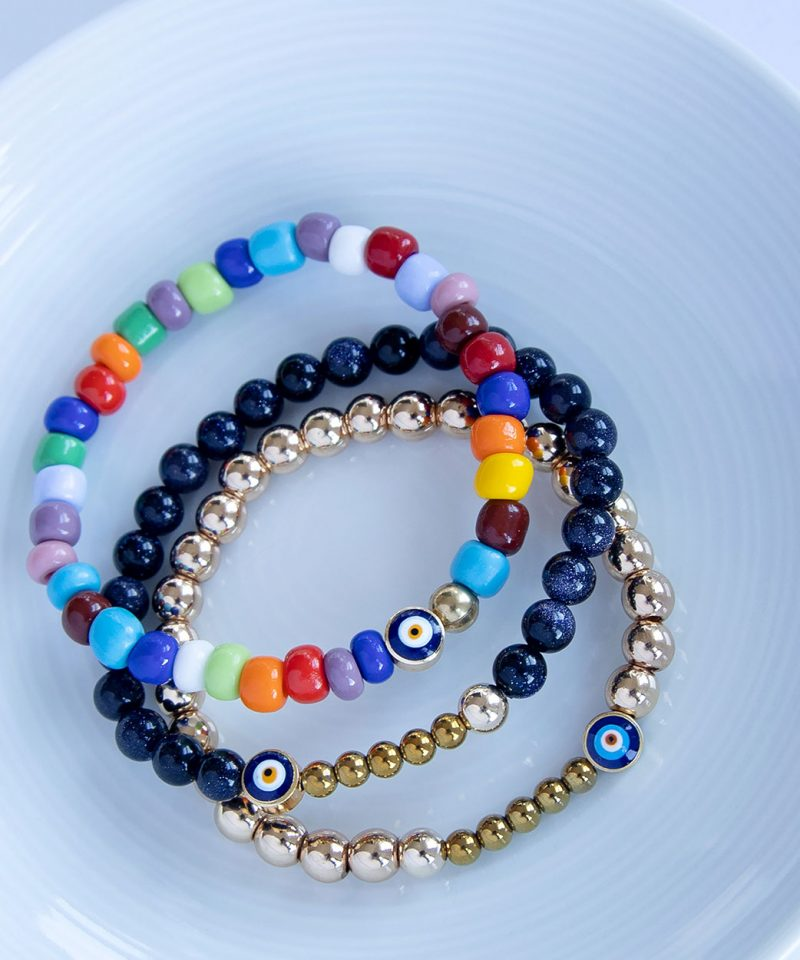 Ojo Bracelet Blue Goldstone 6mm