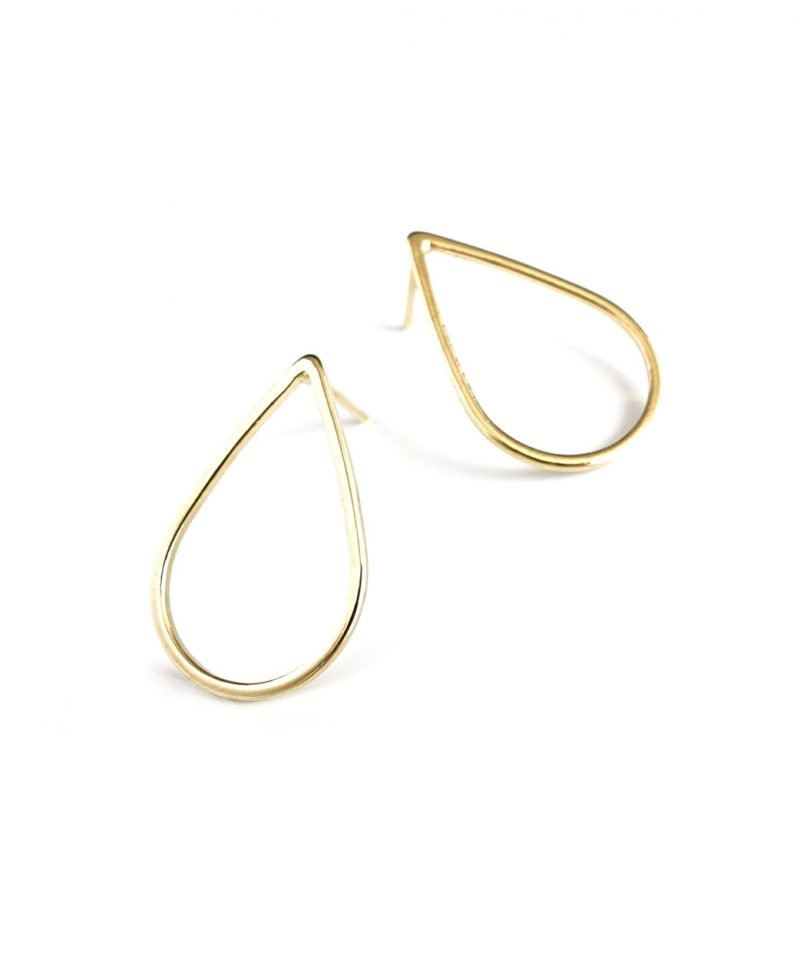 E teardrop outline earrings