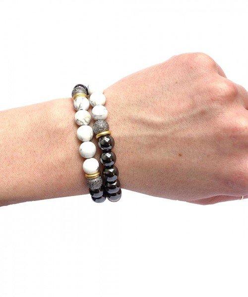 Yin Yang Bracelet White Howlite