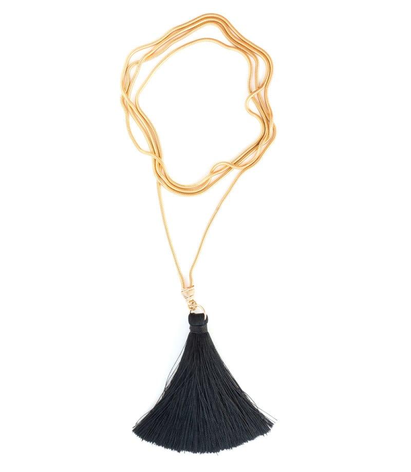 N Fifi Tassel Necklace Black 2 2