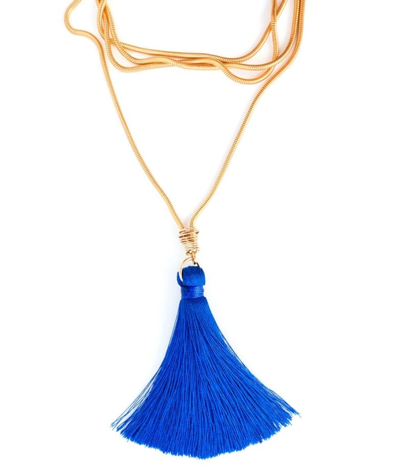 N Fifi Tassel Necklace Royal Blue 1 2