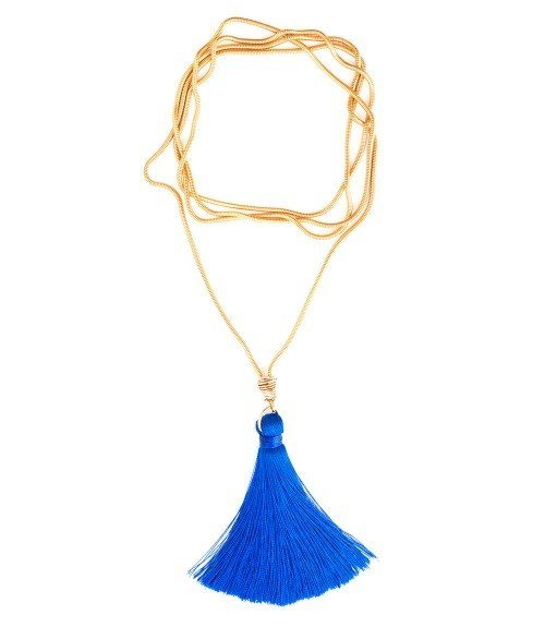 Fifi Tassel Necklace – Royal Blue