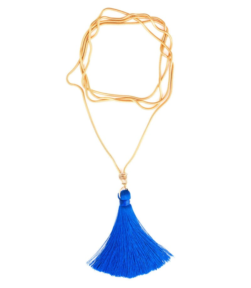 N Fifi Tassel Necklace Royal Blue 2 2