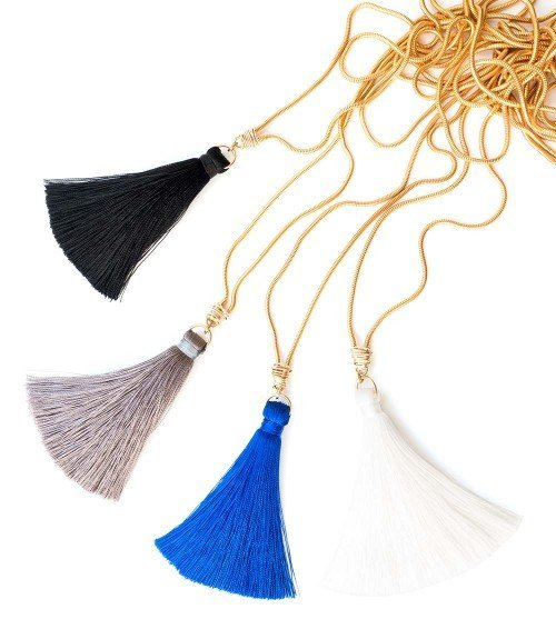 Fifi Tassel Necklace – White