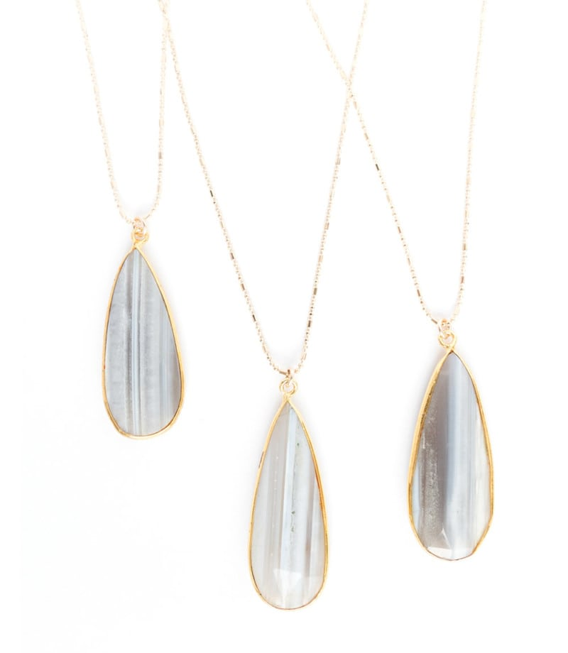 N Stella Necklace Gray Chalcedony 2 1
