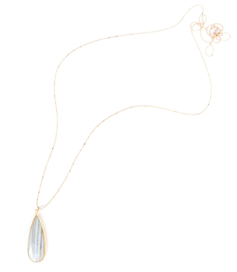N Stella Necklace Gray Chalcedony 4 1