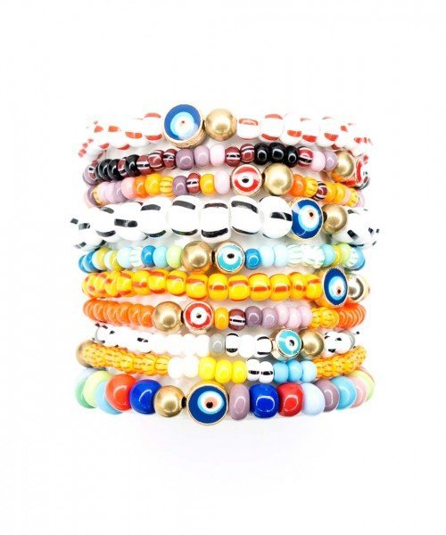 Piñata Glass Bead Bracelet