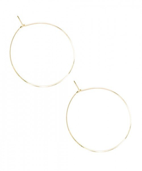 Featherweight Hoop – Large Gold