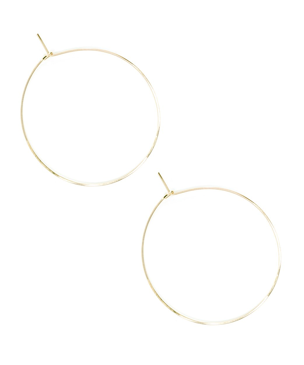 E Featherweight Hoop Large Gold 1 1