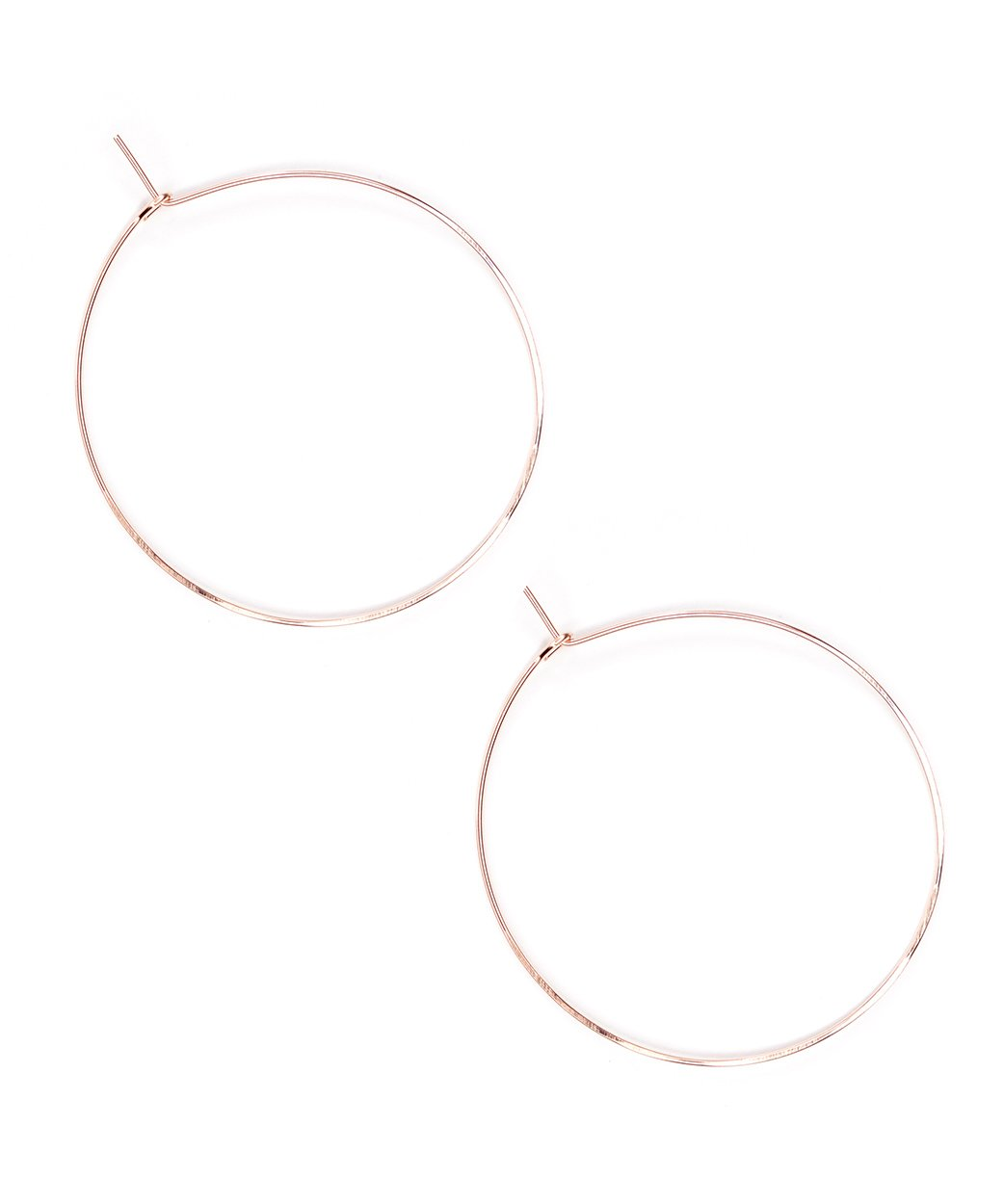 E Featherweight Hoop Large Rose Gold 1 1