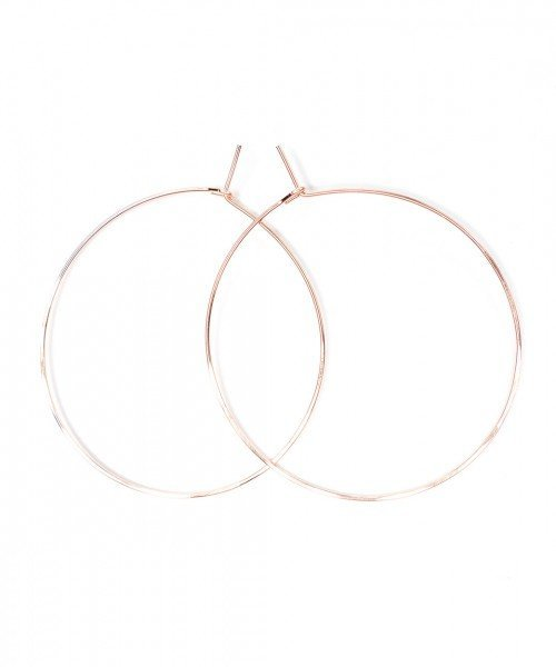 Featherweight Hoop – Large Rose Gold