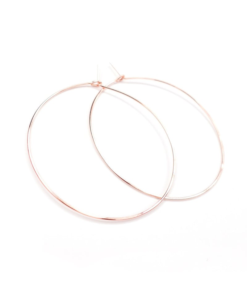 E Featherweight Hoop Large Rose Gold 3 1