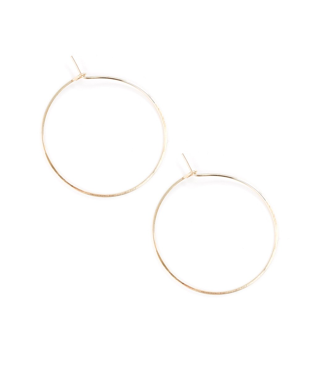 E Featherweight Hoop Small Gold 1 3