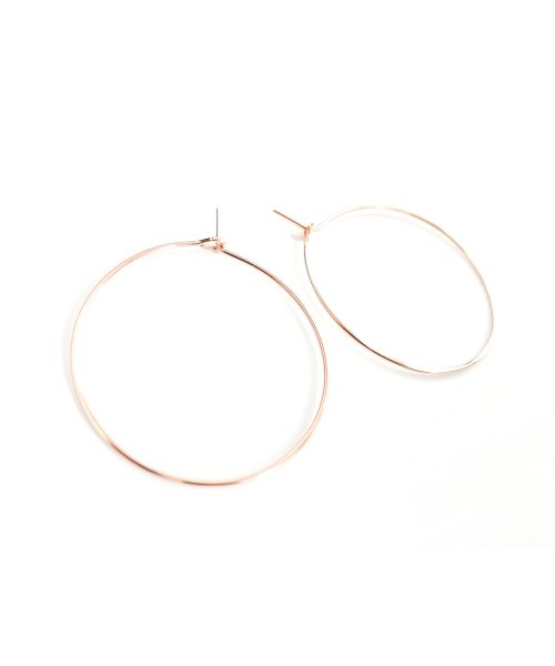 Featherweight Hoop – Small Rose Gold
