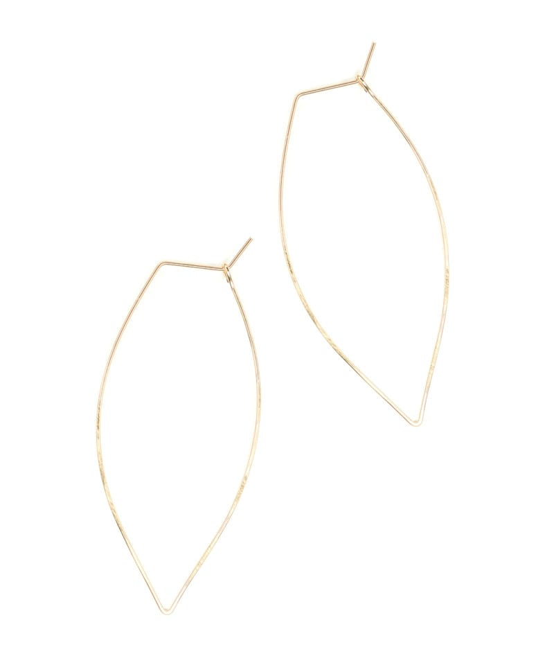 E Featherweight Leaf Large Gold 1 1