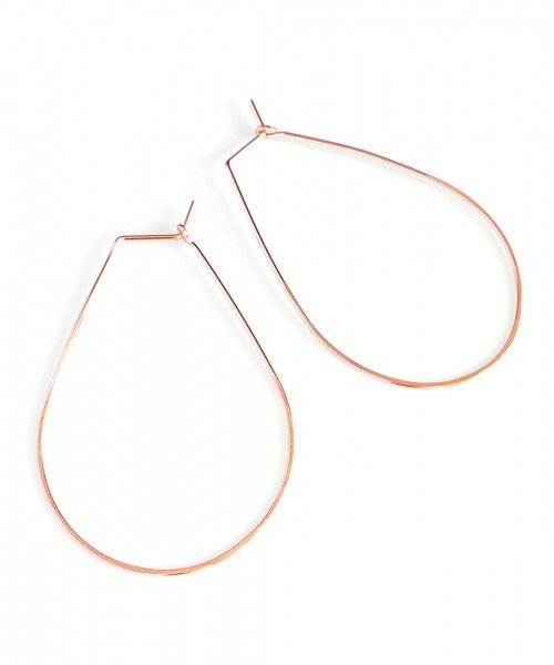 Featherweight Pear – Large Rose Gold