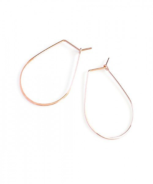 Featherweight Pear – Small Rose Gold