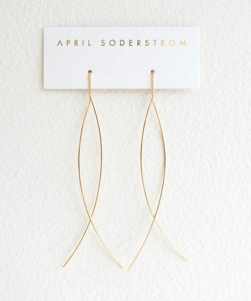 Fine Line Threader Earrings