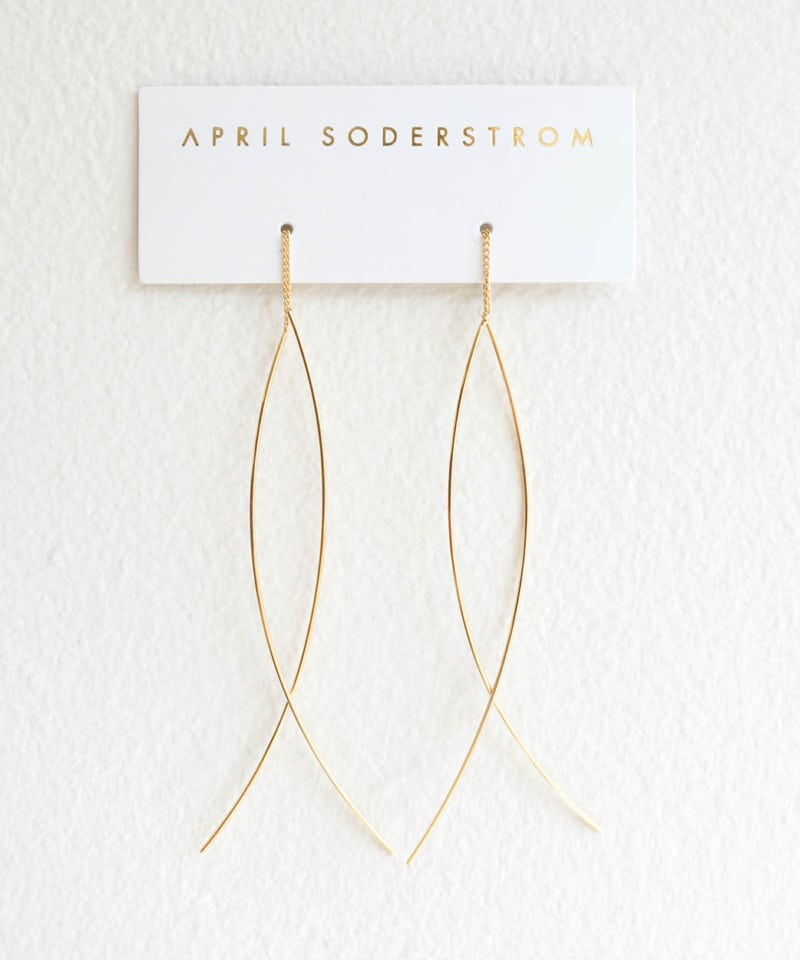 N Fine Line Threader Earrings 1 1