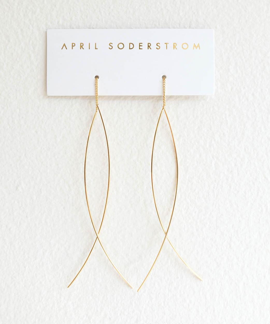 N Fine Line Threader Earrings 1 1