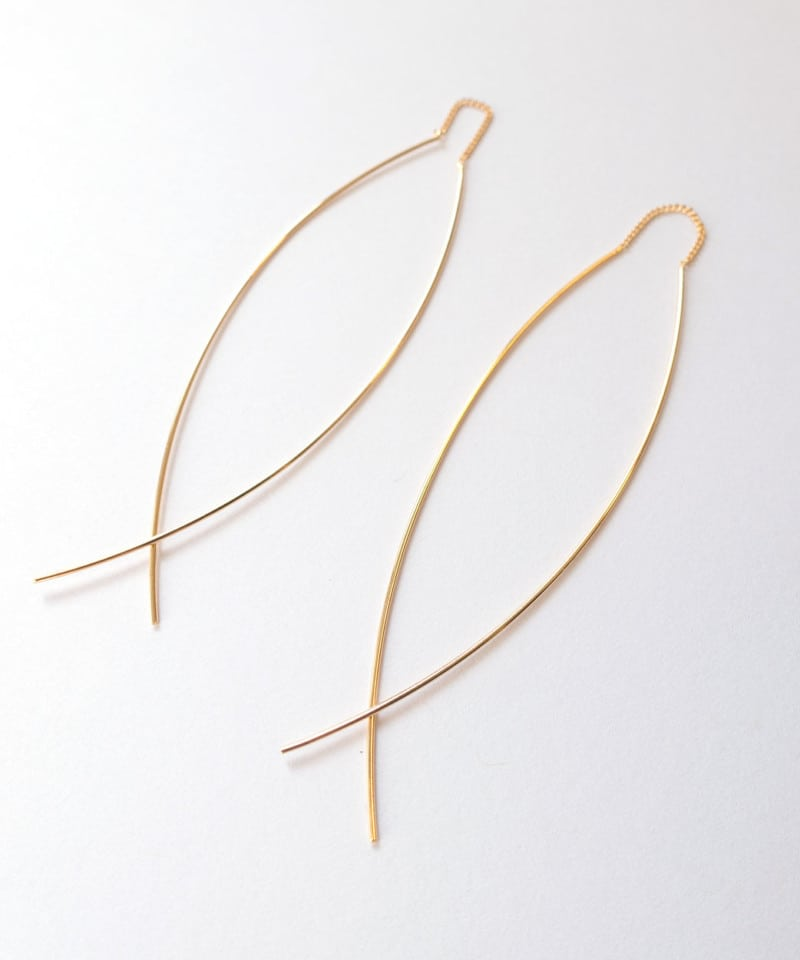 N Fine Line Threader Earrings 3 1
