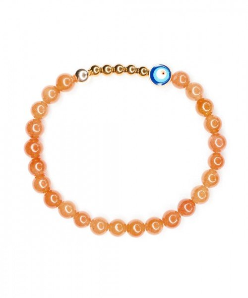Ojo Bracelet Orange Aventurine 6mm
