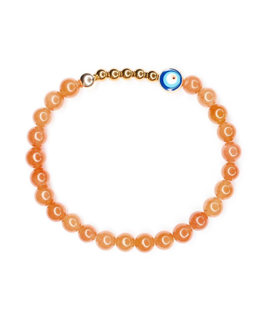 B Ojo Bracelet Orange Aventurine 6mm 1