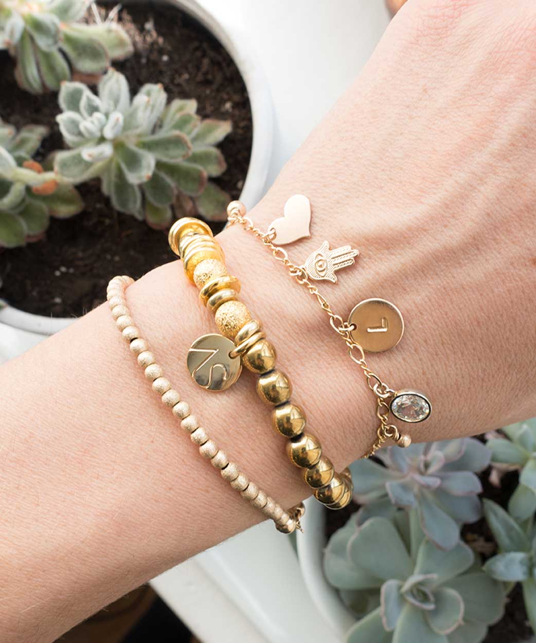 B To Mom With Love Mini Bead Stardust Liona Bracelets