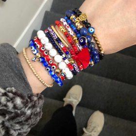 B Patriots Bracelets SBLIII