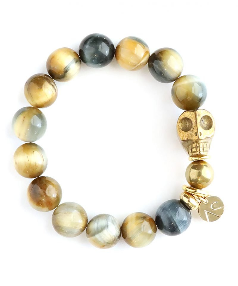 Skele Bracelet – Hawk's Eye & Gold