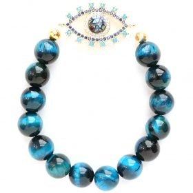 B Nova Bracelet Sapphire Tiger Eye 1