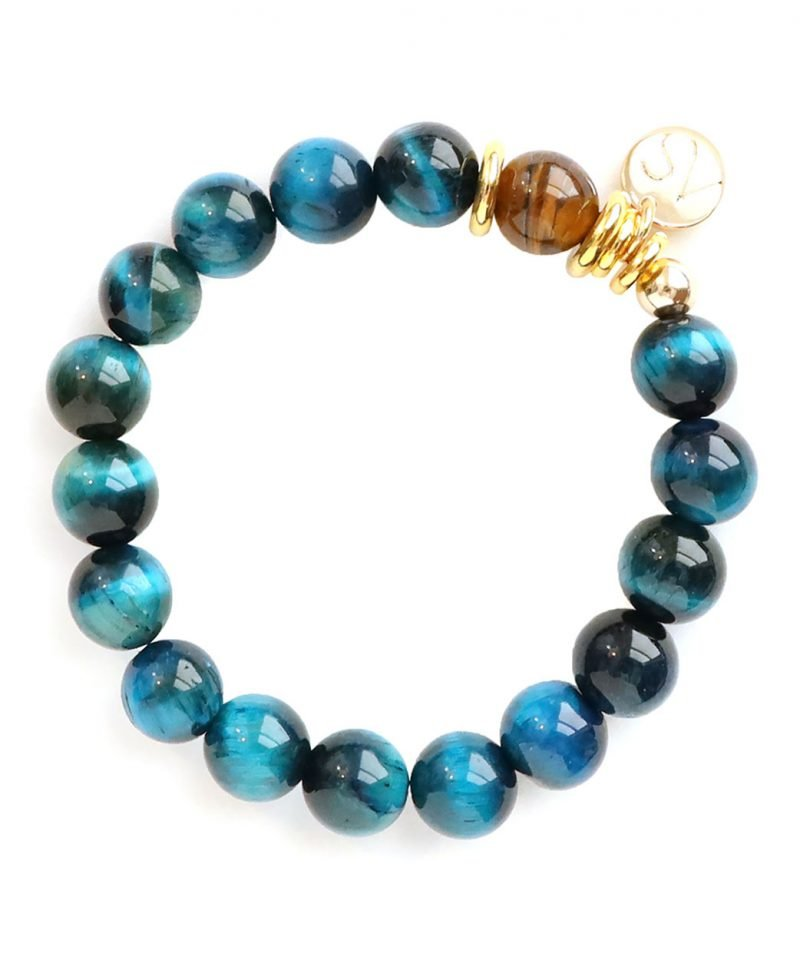 Party of One Bracelet – Sapphire Tiger Eye