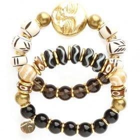 B Zulu Bracelets Bone Agate Happy Moon 1
