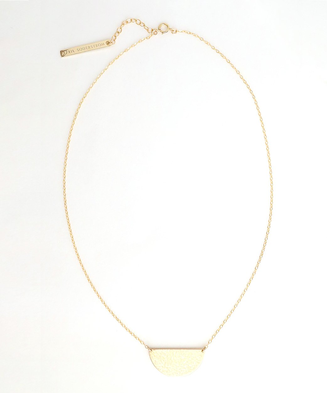 N Half Moon Necklace Large 1
