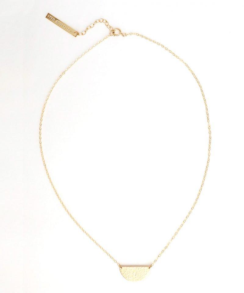 N Half Moon Necklace Medium 1
