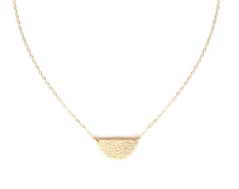 N Half Moon Necklace Medium 2